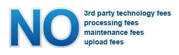 No 3rd party fees